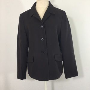 Vintage Luciano Barbers Brown Cashmere Blazer 46